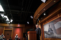 United States Senator Lindsey Graham (Republican of South Carolina) offers remarks and fields questions from reporters during a press conference at the U.S. Capitol in Washington, DC, Thursday, January 7, 2021.<br /> CAP/MPI/RS<br /> ©RS/MPI/Capital Pictures
