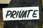 Private sign on Nananu I Ra Island, Fiji