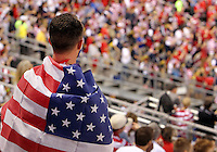 COLUMBUS, OHIO - SEPTEMBER 11, 2012:  Fans of the USA MNT during the Jamaica game at a CONCACAF 2014 World Cup qualifying  match at Crew Stadium, in Columbus, Ohio on September 11. USA won 1-0.