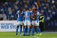 Nikola Maksimovic of Napoli celebrates with team mates after scoring a goal<br /> Napoli 30-10-2019 Stadio San Paolo <br /> Football Serie A 2019/2020 <br /> SSC Napoli - Atalanta BC<br /> Photo Cesare Purini / Insidefoto