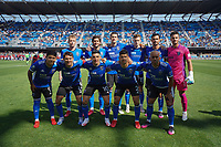 SAN JOSE, CA - AUGUST 8: San Jose Earthquakes starting XI before a game between Los Angeles FC and San Jose Earthquakes at PayPal Park on August 8, 2021 in San Jose, California.