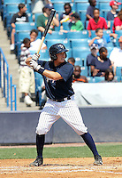 April 20, 2010: Catcher Mitch Abeita of the Tampa Yankees during a game at George M Steinbrenner Field in Tampa, FL. Tampa is the Florida State League High Class-A affiliate of the New York Yankees. Photo By Mark LoMoglio/Four Seam Images