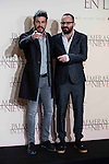"Mario Casas and Fernando Gonzalez Molina during the presentation of the film ""Palmeras en la nieve"" in Madrid, December 16, 2015. <br /> (ALTERPHOTOS/BorjaB.Hojas)"