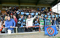 20180414 - AALTER , BELGIUM : Brugge's fans and supporterspictured during the 21st matchday in the 2e Nationale Women's league , a womensoccer game between Club Brugge Dames and GFA Sinaai , in Aalter , saturday 15 th April 2018 . PHOTO SPORTPIX.BE   DAVID CATRY