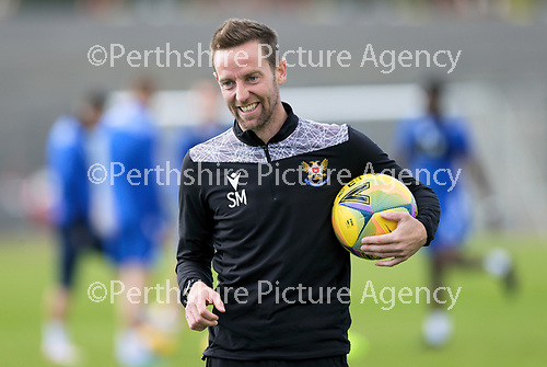 St Johnstone Training….McDiarmid Park, Perth.<br />First team coach Steven MacLean pictured during training ahead of Saturday's game at Motherwell.<br />Picture by Graeme Hart.<br />Copyright Perthshire Picture Agency<br />Tel: 01738 623350  Mobile: 07990 594431