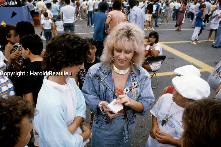 FILE PHOTO (Exact date unknown) -  Sandra Dorion<br /> <br /> <br /> in the eighties<br /> <br /> PHOTO : Harold Beaulieu -  Agence Quebec Presse