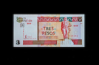 "Cuba, Havana.  ""Pesos Convertibles"", the pesos used by tourists in Cuba.  This is a 3 peso note."