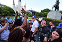 David Duke at the Black Lives Matters and Take Em Down event to take the Andrew Jackson statue in Jackson Square