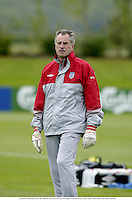 19th May 2003; London, England; A portrait of Goalkeeping coach RAY CLEMENCE during an England Training Session, London Colney
