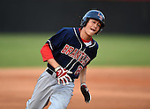 Lake Brantley Patriots Alex Ray (08) during a game against the Lake Mary Rams on April 2, 2015 at Allen Tuttle Field in Lake Mary, Florida.  Lake Brantley defeated Lake Mary 10-5.  (Mike Janes Photography)