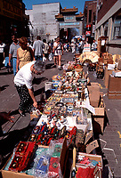 Montreal (Qc) CANADA - 1999 File Photo -sidewalk sale in<br /> Chinatown