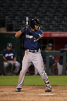 Milwaukee Brewers first baseman Jake Gatewood (22) during a Minor League Spring Training game against the Los Angeles Angels at Tempe Diablo Stadium on March 29, 2018 in Tempe, Arizona. (Zachary Lucy/Four Seam Images)