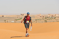 4th October 2021; Tisserdimine to Kourci Dial Zaid;  Marathon des Sables, stage 2 of  a six-day, 251 km ultramarathon, which is approximately the distance of six regular marathons. The longest single stage is 91 km long. This multiday race is held every year in southern Morocco, in the Sahara Desert. Benito Pasquariello (ITA)