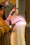 Arc welding, high rise construction building
