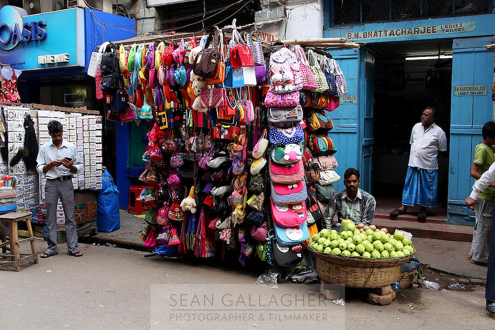 Bags for sale in a market in central Kolkata.<br /> <br /> To license this image, please contact the National Geographic Creative Collection:<br /> <br /> Image ID: 1925732 <br />  <br /> Email: natgeocreative@ngs.org<br /> <br /> Telephone: 202 857 7537 / Toll Free 800 434 2244<br /> <br /> National Geographic Creative<br /> 1145 17th St NW, Washington DC 20036