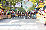 Wout Van Aert (BEL) Team Jumbo-Visma, Peter Sagan (SVK) Bora-Hansgrohe, Jasper Philipsen (BEL) UAE Team Emirates, Matteo Trentin (ITA) Mitchelton-Scott and Elia Viviani (ITA) Deceuninck-Quick Step sprint for the finish line of Stage 10 of the 2019 Tour de France running 217.5km from Saint-Flour to Albi, France. 15th July 2019.<br /> Picture: Colin Flockton | Cyclefile<br /> All photos usage must carry mandatory copyright credit (© Cyclefile | Colin Flockton)