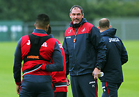 Pictured: Manager Paul Clement. Tuesday 11 July 2017<br /> Re: Swansea City FC training at Fairwood training ground, UK