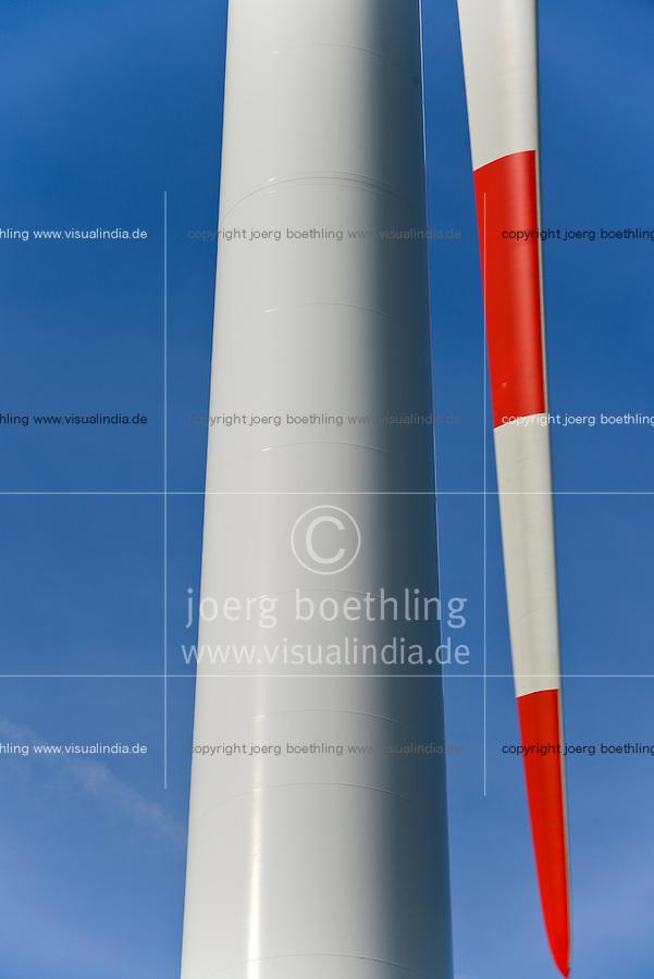 GERMANY Brunsbuettel, Repower wind turbine/ DEUTSCHLAND, Windkraftanlage Repower