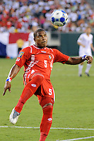 Roman Torres (5) of Panama. The United States (USA) defeated Panama (PAN) 2-1 during a quarterfinal match of the CONCACAF Gold Cup at Lincoln Financial Field in Philadelphia, PA, on July 18, 2009.