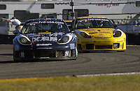 The Orbit Racing Porsches, #43 (L) and #44. navigate the west shoe...
