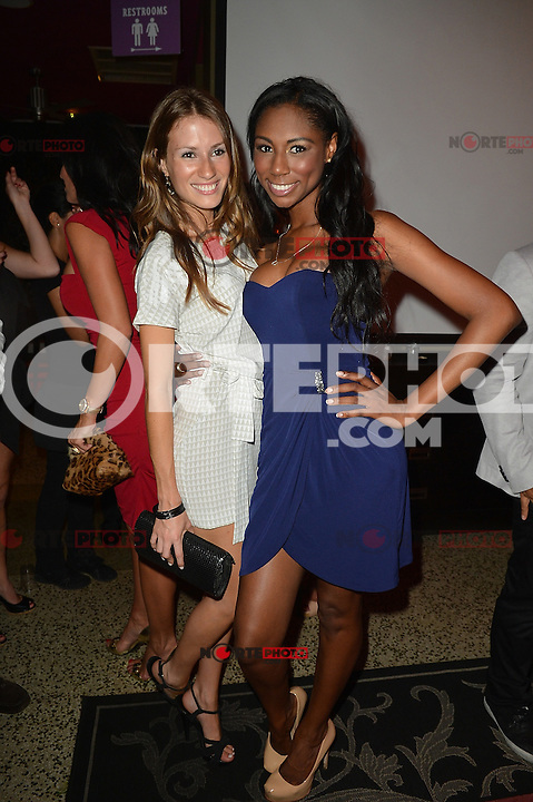 MIAMI BEACH, FL - MAY 22: Victoria Serra and Denia Hall attend The Catalina reality show premiere party at Catalina Hotel on May 22, 2012 in Miami Beach, Florida. (photo by: MPI10/MediaPunch Inc.)