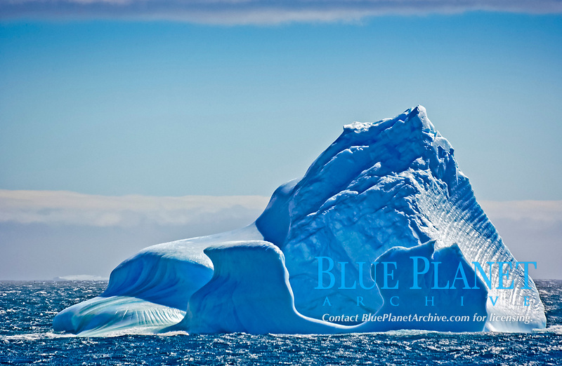 iceberg, broken off Drygalski Fjord, South Georgia Island, Antarctica, Southern Ocean