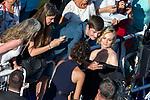 70eme Festival International du Film de Cannes. Montee de la ceremonie de cloture, vues du toit du Palais . 70th International Cannes Film Festival. Vew from rof top of closing red carpet<br /> Kruger, Diane