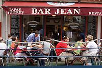 Europe/France/Aquitaine/64/Pyrénées-Atlantiques/Biarritz: Terrasse du Bar Jean ,bar à Tapas ,Place de la Halle