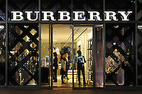 Burberry store in Tokyo, Japan..