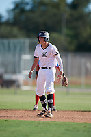 Kellum Clark during the WWBA World Championship at the Roger Dean Complex on October 19, 2018 in Jupiter, Florida.  Kellum Clark is a first baseman from Jackson, Mississippi who attends Jackson Academy and is committed to Mississippi State.  (Mike Janes/Four Seam Images)