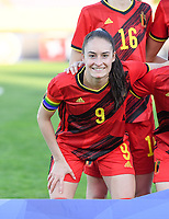 20200304  Parchal , Portugal : Belgian Tessa Wullaert (9) pictured during the female football game between the national teams of New Zealand , known as the Football Ferns and Belgium called the Red Flames on the first matchday of the Algarve Cup 2020 , a prestigious friendly womensoccer tournament in Portugal , on wednesday 4 th March 2020 in Parchal , Portugal . PHOTO SPORTPIX.BE | DAVID CATRY