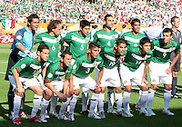 Mexico starting eleven. Mexico defeated Iran 3-1 during a World Cup Group D match at Franken-Stadion, Nuremberg, Germany on Sunday June 11, 2006.
