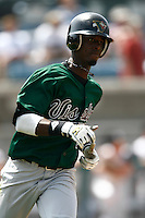 May 20, 2007: Pedro Ciriaco of the Visalia Oaks runs the bases against the Rancho Cucamonga Quakes at The Epicenter in Rancho Cucamonga,CA.  Photo by Larry Goren/Four Seam Images