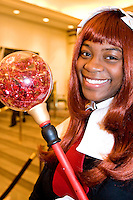 """Ty Anderson, cos-playing as Fire Mage from Disgaea, at the 12th annual Katsucon, a convention for fans of Japanese comics, animation (anime), and video games, held in Washington D.C. on February 18, 2006 and attended by over 8,000 people.<br /> <br /> Cosplay, short for """"costume play"""", is the act of creating and wearing outfits of one's favorite anime, comic, or video game and often acting out that characters actions."""
