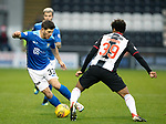 St Mirren v St Johnstone…26.12.18…   St Mirren Park    SPFL<br />Matty Kennedy goes past Ethan Erhahon<br />Picture by Graeme Hart. <br />Copyright Perthshire Picture Agency<br />Tel: 01738 623350  Mobile: 07990 594431