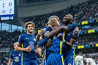 19th September 2021; Tottenham Hotspur Stadium, Tottenham, London;  19th September 2021;  Antonio Rudiger of Chelsea celebrates with Timo Werner after scoring his teams 3rd goal during the Premier League match between Tottenham Hotspur and Chelsea at Tottenham Hotspur Stadium