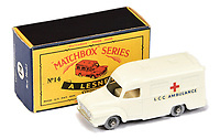 BNPS.co.uk (01202 558833)<br /> Pic: Vectis/BNPS<br /> <br /> Pictured: Matchbox Regular Wheels 14c Bedford Lomas Ambulance<br /> <br /> One man's vast collection of model cars amassed over a lifetime has sold at auction for an incredible £250,000.<br /> <br /> Simon Hope, 68, has been collecting matchbox models since he was a small child and has bought over 4,000 over the past six decades.<br /> <br /> His hobby has cost him thousands of pounds and at and engulfed a huge slice of his life but he has now decided to part with the toys