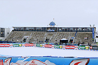 17th October 2020, Rettenbachferner, Soelden, Austria; FIS World Cup Alpine Skiing ladies downhill; empty spectator stands due to Covid-19 pandemic