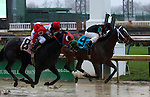 November 28, 2015 Durango (#9, Robby Albarado) wins the 5th race, a six and a half furlong allowance race for two year old fillies. Owner Tom R. Durant, trainer Randy L. Morse. By First Samurai x Superduper Miss (Robyn Dancer) ©Mary M. Meek/ESW/CSM