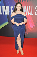 """Amber Doig-Thorne at the 65th BFI London Film Festival """"The Power Of The Dog"""" American Express gala, Royal Festival Hall, Belvedere Road, on Monday 11th October 2021, in London, England, UK. <br /> CAP/CAN<br /> ©CAN/Capital Pictures"""
