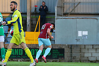 Jake Hegarty of Cobh Ramblers celebrates after scoring the side's first goal.<br /> <br /> Cobh Ramblers v Cork City, SSE Airtricity League Division 1, 28/5/21, St. Colman's Park, Cobh.<br /> <br /> Copyright Steve Alfred 2021.
