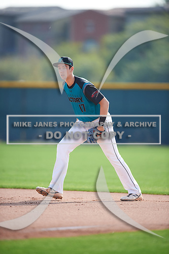 Arlo Marynczak (17) of Bethlehem Central High School in Delmar, New York during the Under Armour All-American Pre-Season Tournament presented by Baseball Factory on January 14, 2017 at Sloan Park in Mesa, Arizona.  (Mike Janes/Mike Janes Photography)