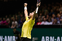 Rotterdam, The Netherlands, 16 Februari 2019, ABNAMRO World Tennis Tournament, Ahoy, Semis, Stan Wawrinka (SUI), jubilates after defeating Kei Nishikori (JPN)<br /> Photo: www.tennisimages.com/Henk Koster