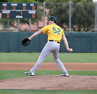 Gus Varland - Oakland Athletics 2019 extended spring training (Bill Mitchell)