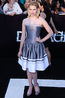 """WESTWOOD, LOS ANGELES, CA, USA - MARCH 18: Claudia Lee at the World Premiere Of Summit Entertainment's """"Divergent"""" held at the Regency Bruin Theatre on March 18, 2014 in Westwood, Los Angeles, California, United States. (Photo by David Acosta/Celebrity Monitor)"""