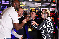ATLANTIC CITY, NJ - JUNE 10 : Lamar Odom, Chuck Lidell, Damon Feldman and Aaron Carter at Celebrity Boxing weigh in at The Show Boat Hotel in Atlantic City New Jersey June 10, 2021 Credit: Star Shooter/MediaPunch