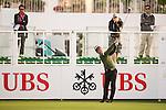 Liang Wenchong of China tees off the first hole during the 58th UBS Hong Kong Open as part of the European Tour on 08 December 2016, at the Hong Kong Golf Club, Fanling, Hong Kong, China. Photo by Marcio Rodrigo Machado / Power Sport Images