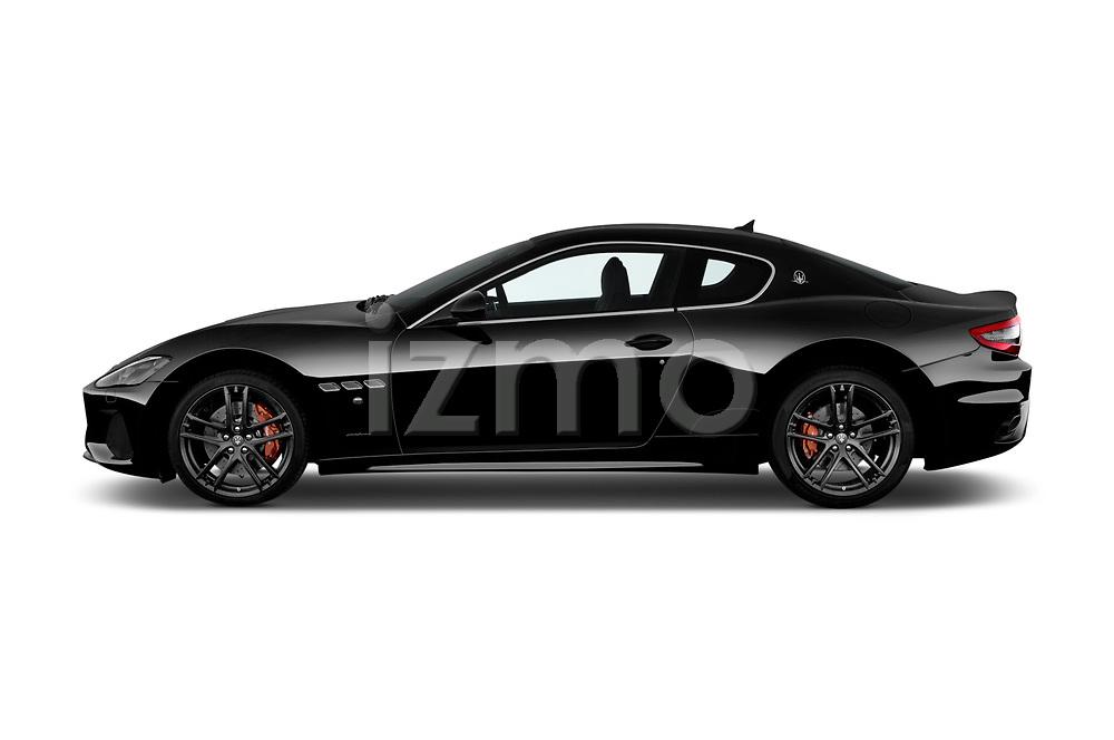Car driver side profile view of a 2018 Maserati GranTurismo Sport 2 Door Coupe