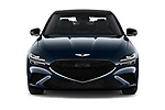 Car photography straight front view of a 2022 Genesis G70 - 4 Door Sedan Front View