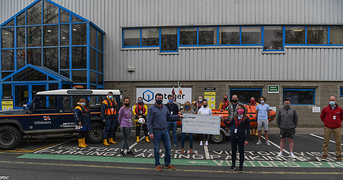 Fethard RNLI at the €37,000 cheque presentation from from Integer New Ross